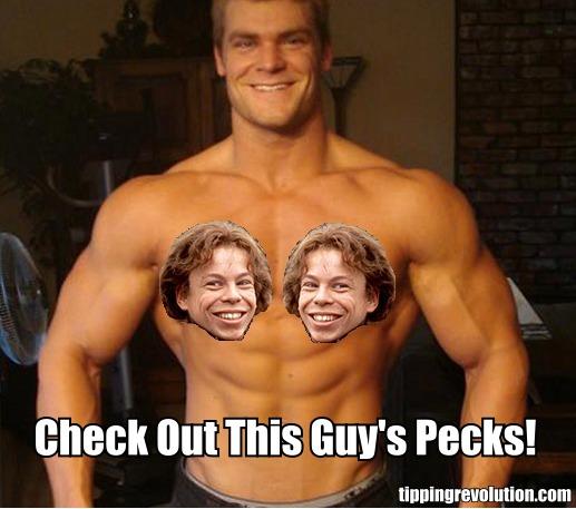 Check Out This Guys Pecks Willow Warwick Davis